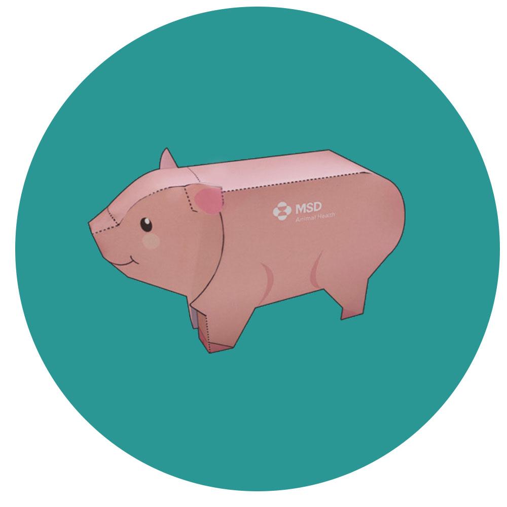 Navidad pequeñas acciones cerdo